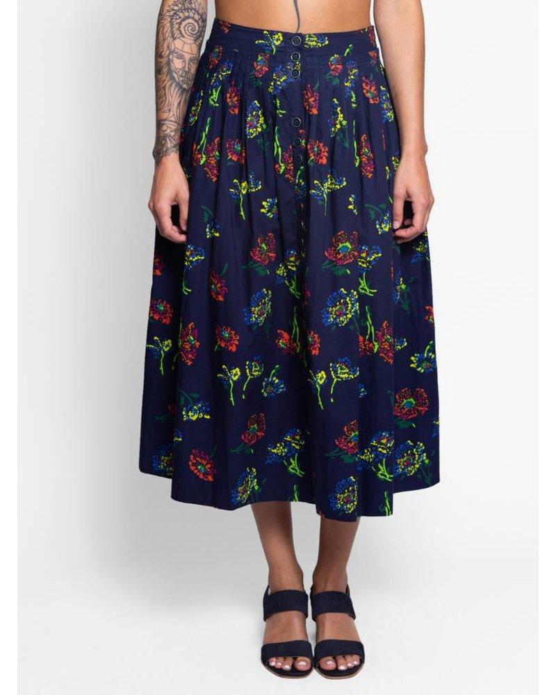 Ulla Johnson Katriane Skirt Midnight Floral