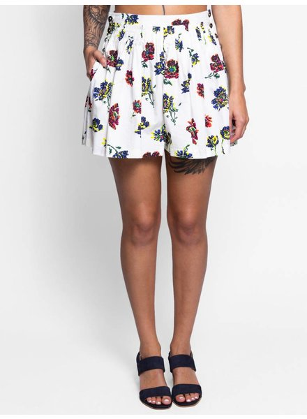 Ulla Johnson Alita Shorts Cream Floral