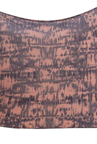 Raquel Allegra Convertible Scarf Clay Fire Tie Dye