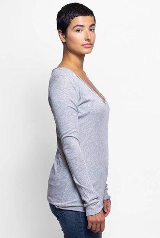 NSF Long Sleeve V-neck Heather