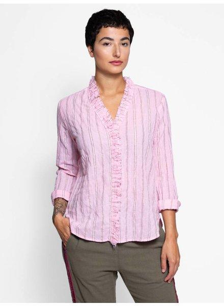Xirena Colette Beckett Striped Shirt Opal