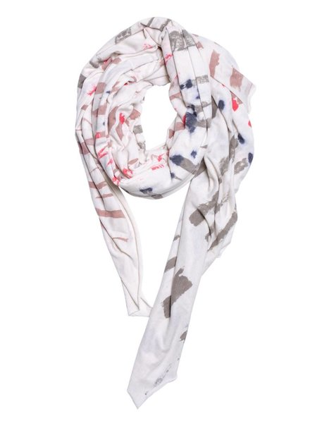 Raquel Allegra Convertible Scarf White Mountain Tie Dye