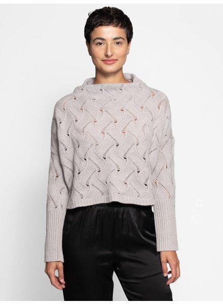 Inhabit Feather Stitch Funnel Sweater Drift