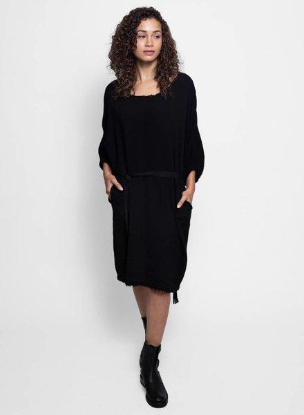 Raquel Allegra Dolman Dress Black