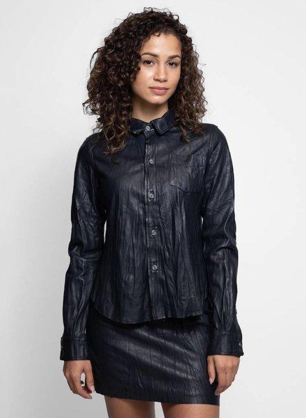 Burning Torch Incline Shirt Jacket Washed Black