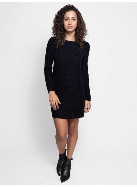 Loyd/Ford Long Sleeve Metallic Dress Black
