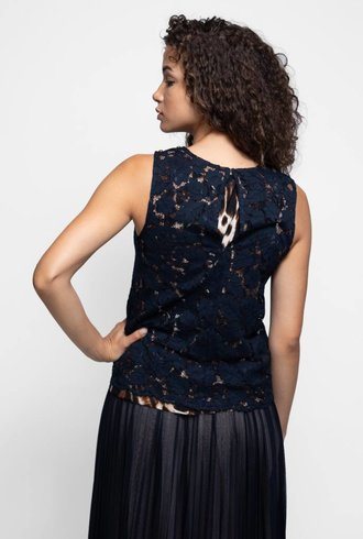 Loyd/Ford Lace Shell Top Navy