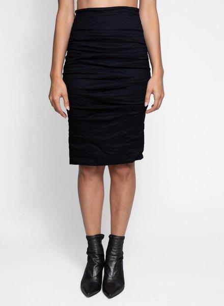 Nicole Miller Sandy Cotton Metal Skirt Black