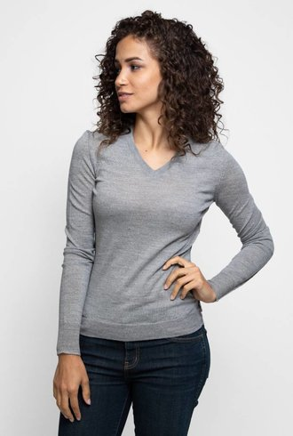 Inhabit Merino V-Neck Graphite