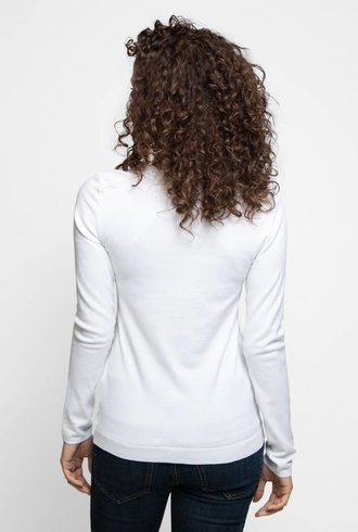 Inhabit Cotton Long Sleeve Crew White