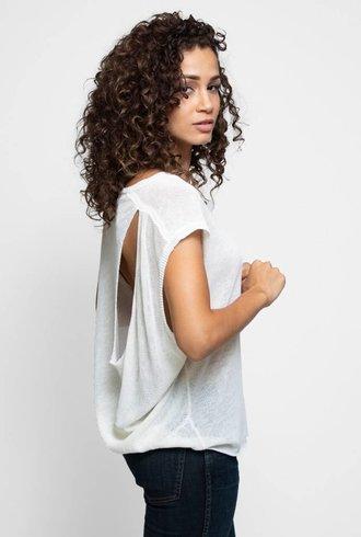Inhabit Linen Drape Shell White
