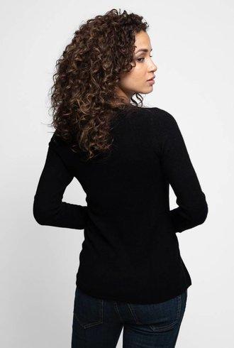 Inhabit Side-slit V Black