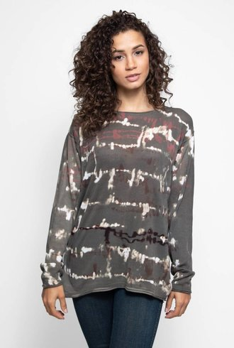 MA+CH Cotton Easy Pullover Wave Taupe
