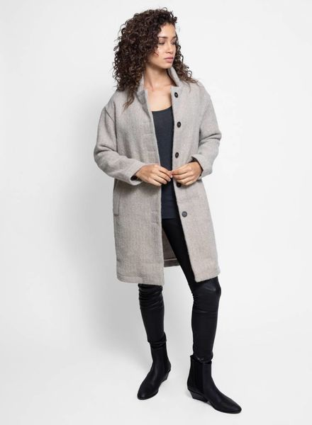Local Assenzio Herringbone Coat Ivory