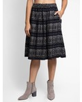 Local Celeste Cotton Skirt Black Mix