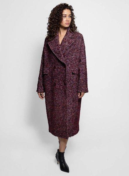 Ulla Johnson Frances Coat Maroon