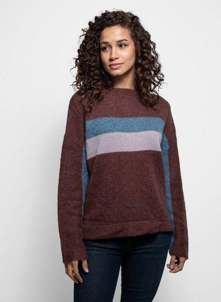 360 Sweater Phyllis Pullover Mahogany