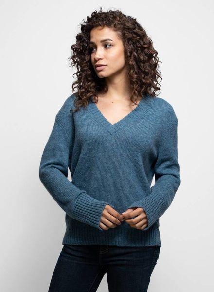 360 Sweater June V-neck Sweater Atlantis