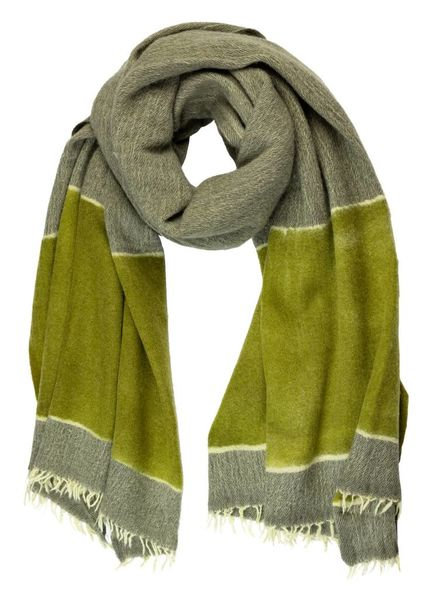 Destin Paint Stola Scarf Avocado Olive