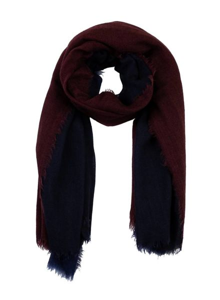 Destin Triple Quadra Scarf Navy Burgundy