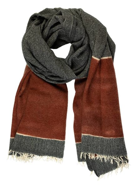 Destin Paint Stola Scarf Orange Black