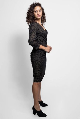 Nicole Miller Smudge Dress Gold