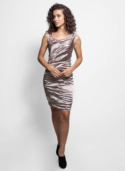 Nicole Miller Scoop Techno Dress Mocha