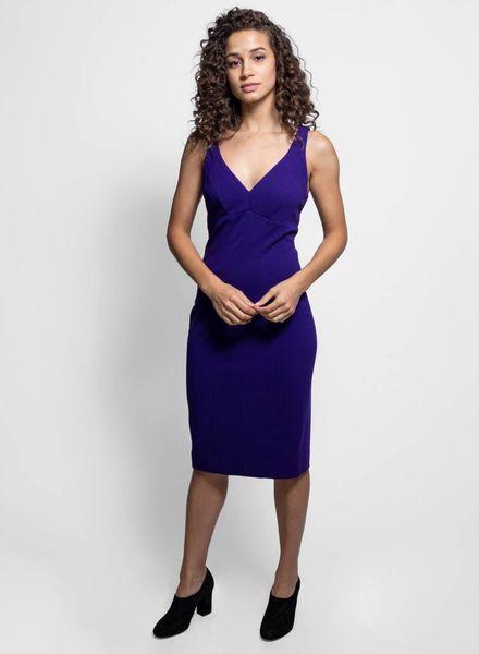 Nicole Miller Double Strap Dress Purple