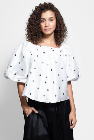 Ulla Johnson Amoy Top Blanc