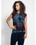 Raquel Allegra Muscle Tank Mulberry Tie Dye