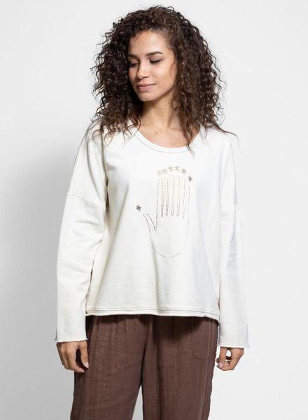 Raquel Allegra Sweatshirt Ivory Print