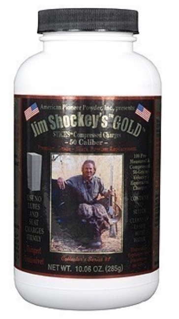 AMERICAN PIONEER POWDER AMERICAN PIONEER POWDER JIM SHOCKEY'S GOLD STICKS, 50 CAL, 50 GRAIN