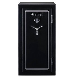 STACK ON STACK-ON SENTINEL 24 GUN FIRE RESISTANT SAFE, W/ PISTOL STORAGE & ELECTRONIC LOCK, BLACK