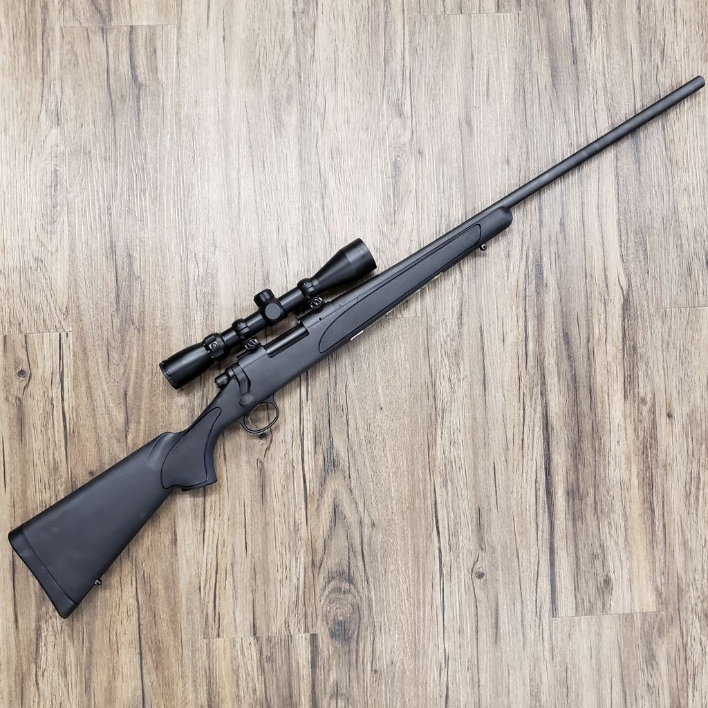 REMINGTON REMINGTON 700 ADL RIFLE, 243 WIN, W/ SCOPE, NEVER FIRED, PRE-OWNED