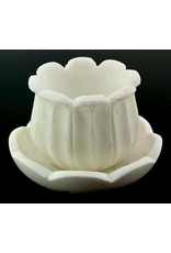 Marble Lotus Bowl Burner Set