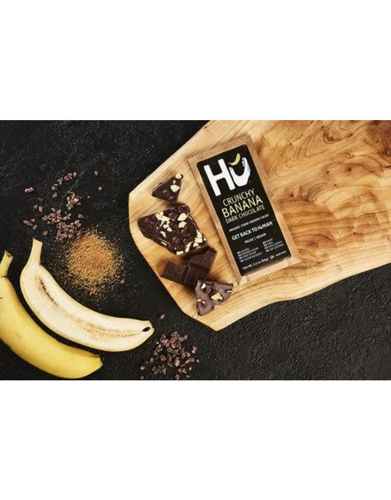 Hu Hu Crunchy Banana Dark Chocolate Bar
