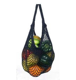 Eco-Bags Black Cotton String Shopping Bag (short handle)