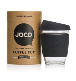 JOCO JOCO 12 oz Reusable Glass Cup - Black