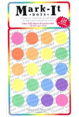 Mark-It Stickers Large Transparent Sticker Dots, Pack of 8 Colors #151