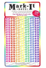 Mark-It Stickers 1/8 inch Transparent Dots, Pack of 8 Colors #108