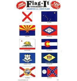 Mark-It Stickers Assorted U.S. State Flag Stickers #2401