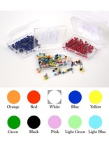 Moore Push Pin Small Ball Shaped Maptacks - 10 colors available