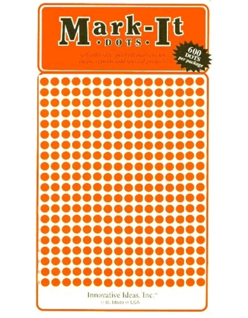 Mark-It Stickers 1/8 inch Sticker Dots - Choose a Color