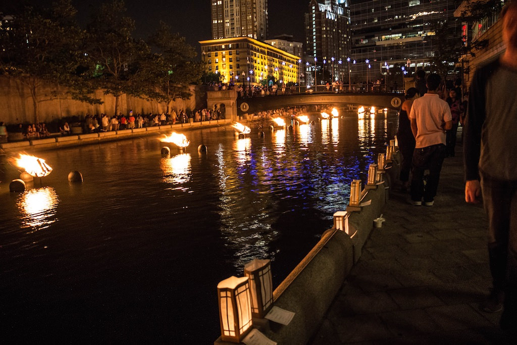 scene at waterfire