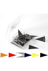 Moore Push Pin Pennant Shaped Map Flags in 6 Colors
