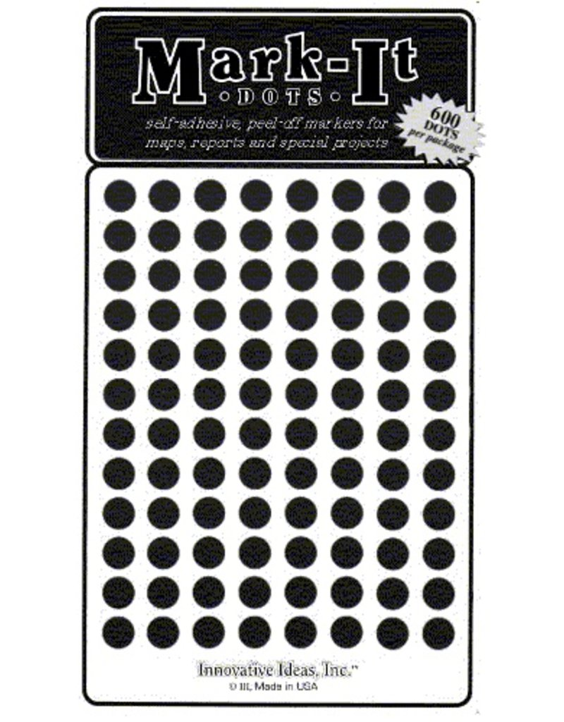 Mark-It Stickers 1/4 inch Sticker Dots - Choose a color
