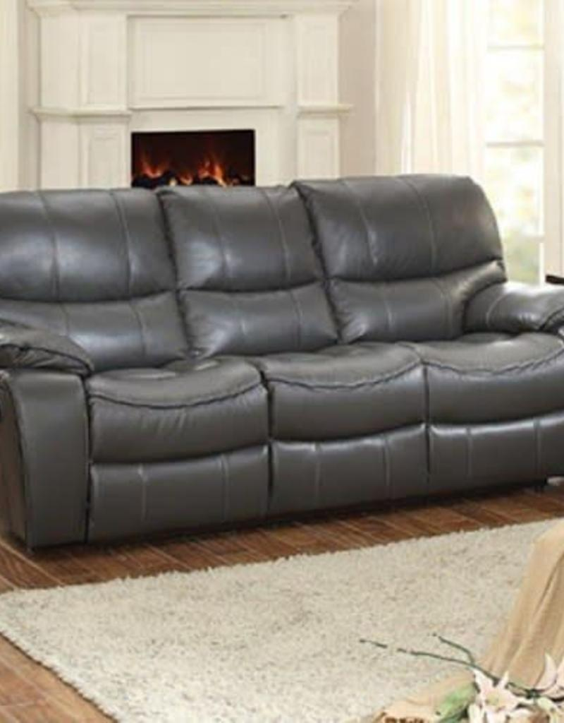 Homelegance Grey Leather/Gel Sofa