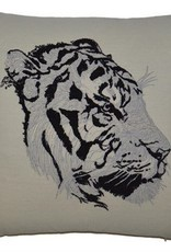 Embroidered Tiger Pillow