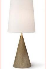 Concrete and Brass Mini Cone Lamp