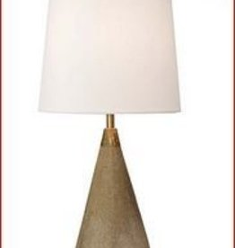 Concrete and Brass Mini Cone Lamp
